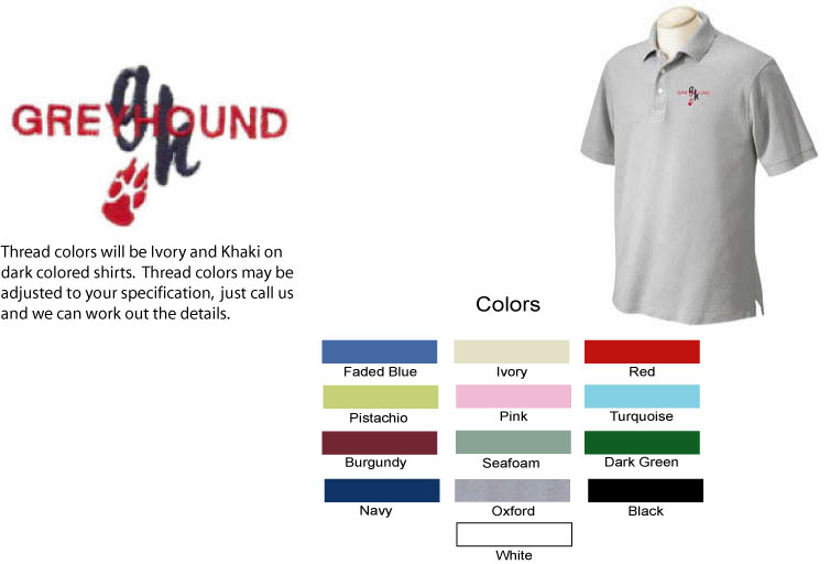 E-1 - Greyhound Paw Polo Shirt (E1)