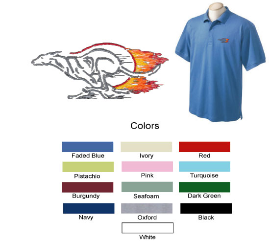 E-3 - Greyhound Flames Polo Shirt (E3)