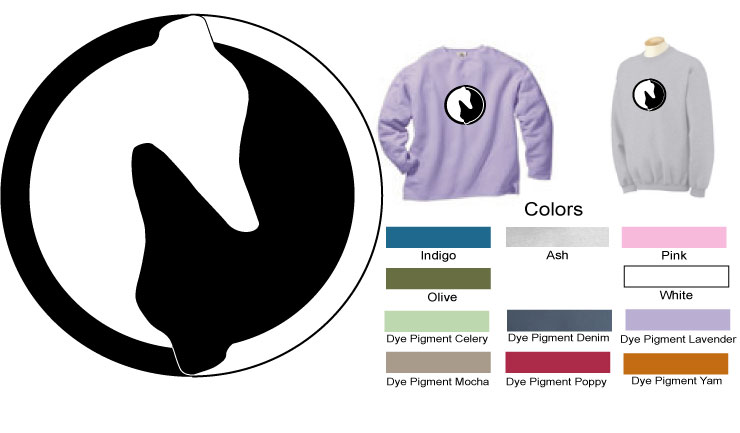 P-10 - Yin Yang Greyhound Sweatshirt (P10)