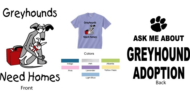 P-16 - Greyhounds Need Homes Youth T-Shirt