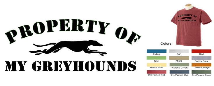 P-17 - Property of My Greyhounds T-Shirt (P17)