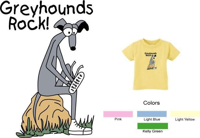 P-2 - Greyhounds Rock Toddler T-Shirt