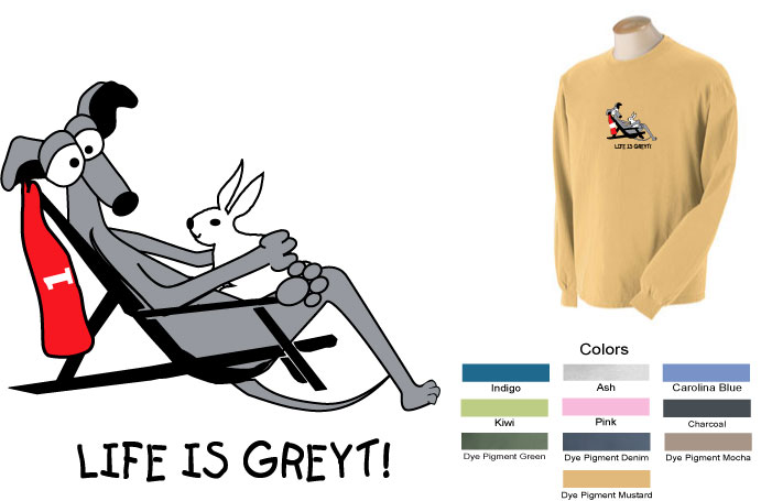 P-36 - Life is Greyt Long Sleeve T-Shirt (P36)
