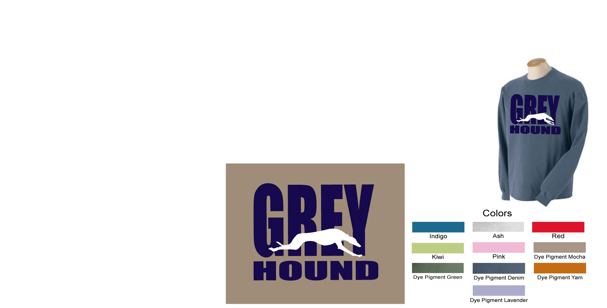 P-37 - GREY hound Long Sleeve T-Shirt