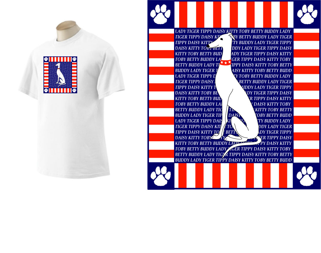 PT-4 - Paws & Stripes PERSONALIZED T-Shirt
