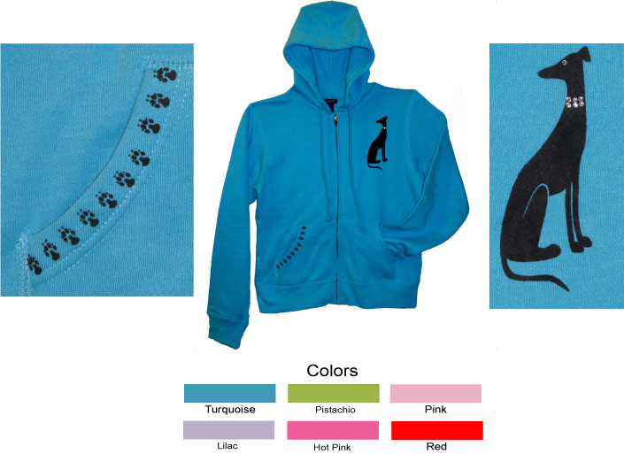 R-15 - Collar Dog on Ladies Hoodie