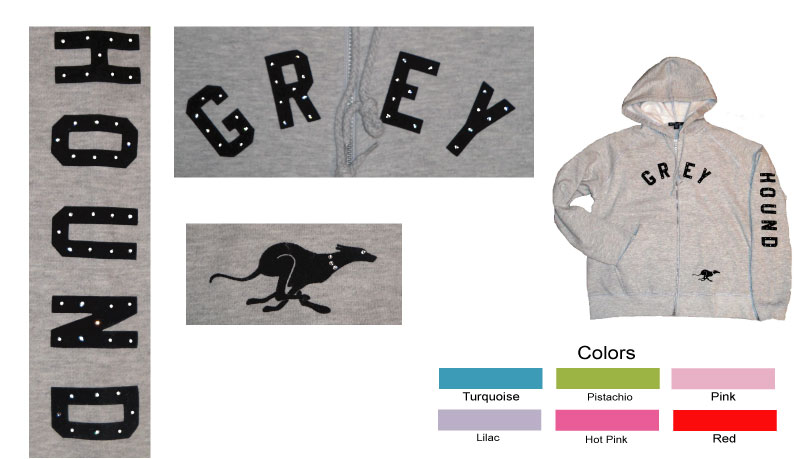 R-6 - GREYHOUND Ladies Hoodie