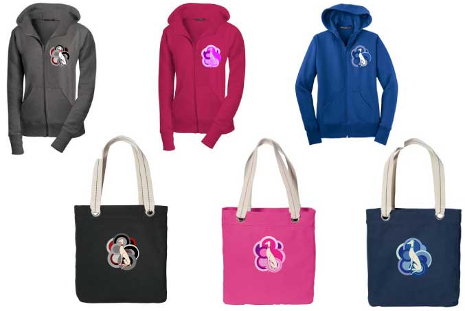 P-43 - Retro Dog Hoodie and Tote Gift Set