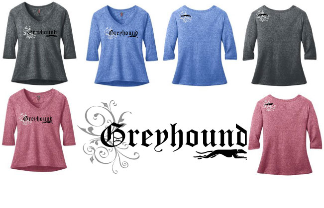 RG-3 - Greyhound Olde English Raglan Tee