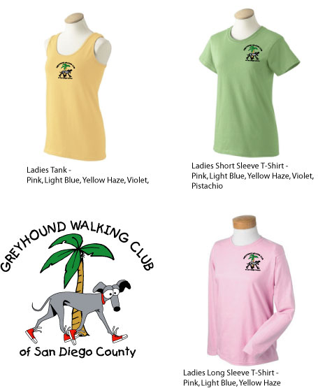 GWCL - Greyhound Walking Club Ladies Shirts (GWCL)