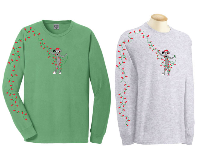 HOL-2 - Holiday Lights Long Sleeve T-Shirt
