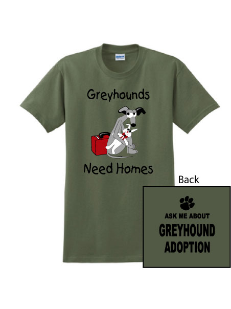 P-16 - Greyhounds Need Homes Unisex T-Shirt - SIze SM