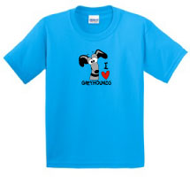 P-29 - I LOVE Greyhounds Youth T-Shirt