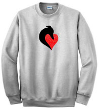 PER-1 - Silhouette Head and PERSONALIZED Heart on Sweatshirt