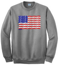 PT-2 - Flag Dogs Sweatshirt