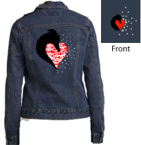 L-7620 - Personalized Head & Heart Denim Jacket