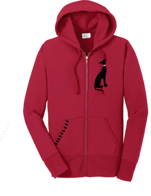 R-15 - Collar Dog Ladies Hoodie - Size XL