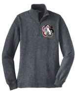 P-43 - Retro Dog 1/4 Zip Sweatshirt